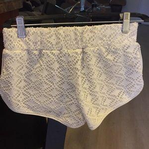 White shorts.